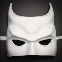 Batman Halloween Masquerade Half Face Mask - White - 1