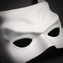 Batman Halloween Masquerade Half Face Mask - White - 2