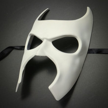 Batman Halloween Masquerade Full Face Mask - White