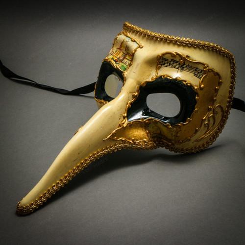 ILOVEMASKS White Long Nose Bird Craft Mardi Gras Masqurade Venatian Mask Zanni Style