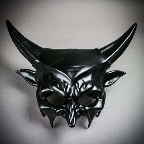 Demon Masquerade Devil Halloween Party Mask - Black
