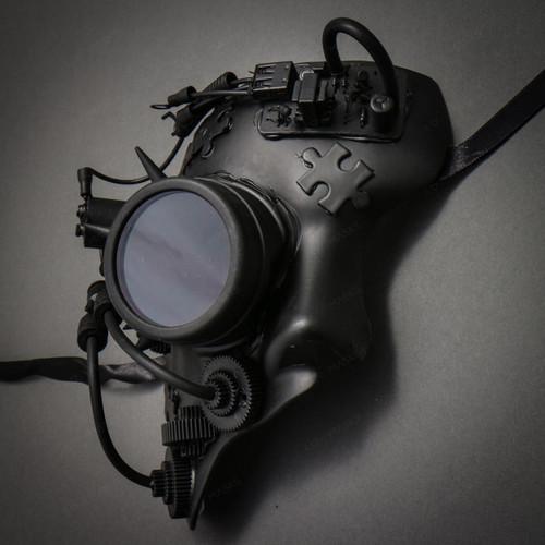 Phantom of the Opera Steampunk Goggles Mask Masquerade - Black