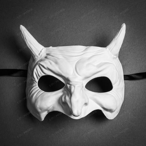 Goblin Devil Eye Mask - White