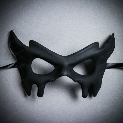 Devil Halloween Masquerade Eye Mask - Black