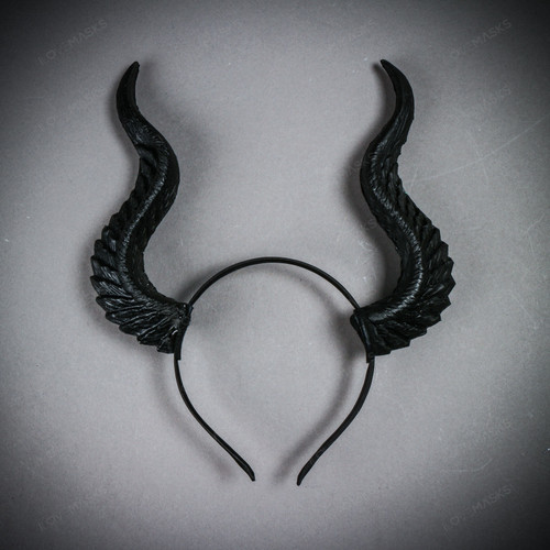Fairy Horns Magnificent Headband - Black