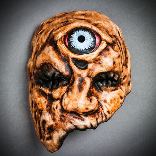 Brutish Phantom One-Eyed Monster Cyclops Mask - Flesh