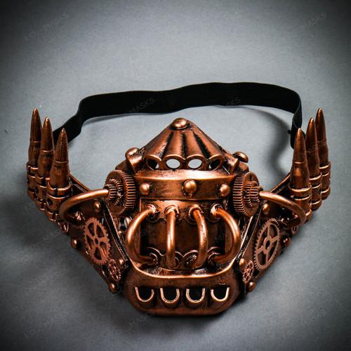 Steampunk Half Lower Jaw Mask - Bronze Copper