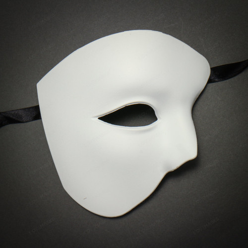 Half Face Phantom of The Opera Masquerade - White