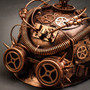 Steampunk Military Hard Hat with Goggles - Copper (Goggles)