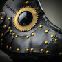 Steampunk Plague Doctor Mask Full Face Masquerade - Black
