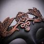 Roman Greek Emperor Warrior Venetian Mask - Copper Black