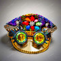 Military Burning Man Top Hat with Kaleidoscope 3D Goggle - Rainbow