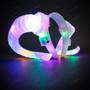 Gothic Demon Horn Headband with LED Light - White