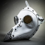 Steampunk Full Face Plague Doctor Mask - White
