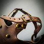 Steampunk Full Face Plague Doctor Mask - Brown