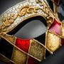 Classic Musical Venetian Masquerade Eye Mask - Gold Black