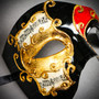 Phantom Of Opera Musical Masquerade Venetian Men Full Mask - Black Red