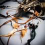 Antelope Devil Horns Animal Skull Ghost Masquerade Mask - Black Gold