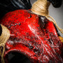 Antelope Devil Deer Horn Skull Ghost Masquerade Mask - Bloody Red