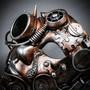 Phantom Full Face Steampunk Goggles Mask - Copper Bronze