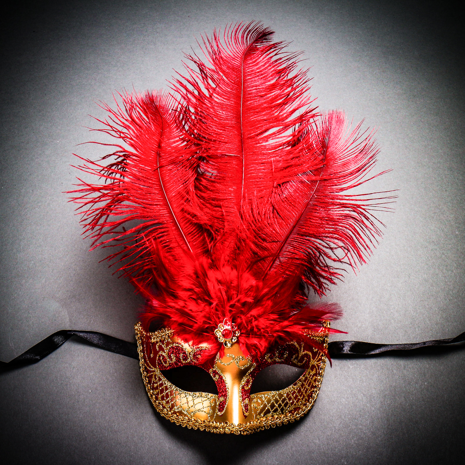 Classic Feather Gold Red