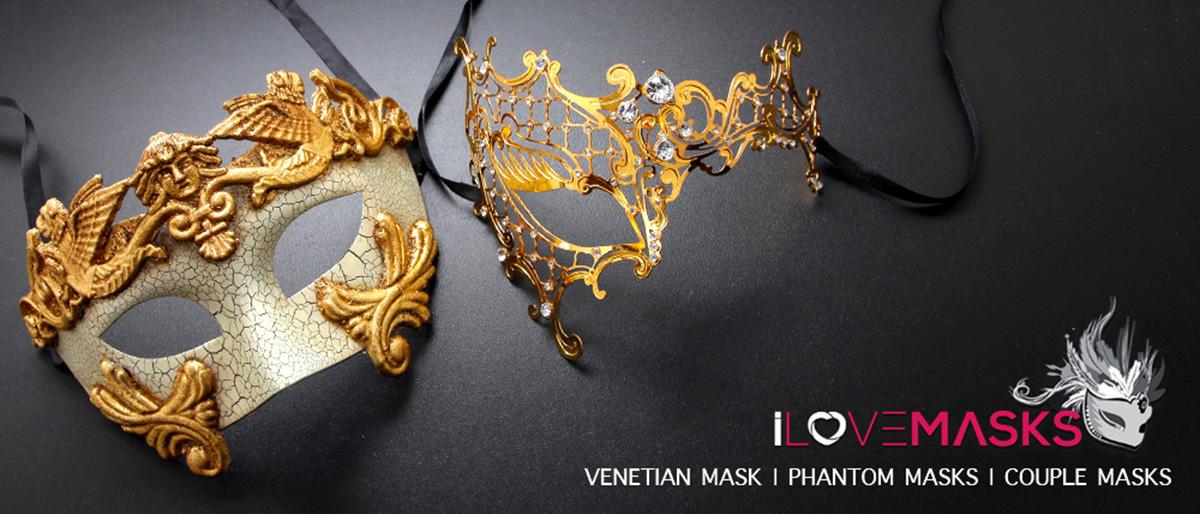Couples Masquerade Masks set