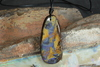 Large Free Shape Natural Australian Opal Pendant on Leather