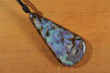 Large Blue Green Opal Necklace