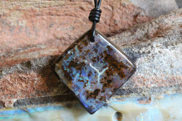 Artistic Boulder Opal Necklace