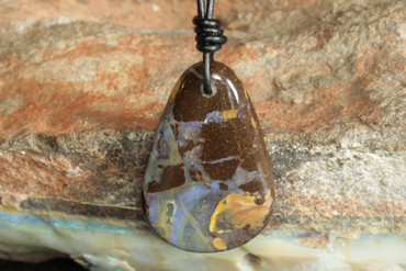 Organic Artistic Rock Opal Necklace