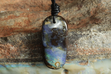 unique blue opal necklace for adult or teen