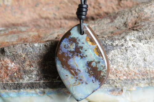 Green Opal Leaf Necklace