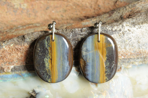Gorgeous Boulder Opal Earrings