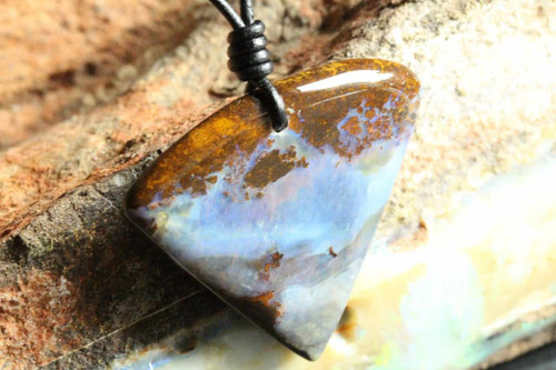 Gorgeous Inverted Triangle Opal Necklace