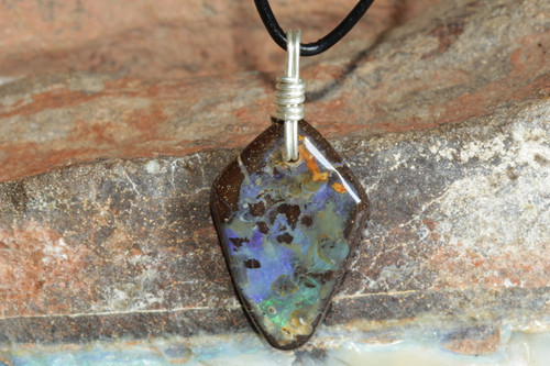 Boulder Opal Necklace for Adult or Teen