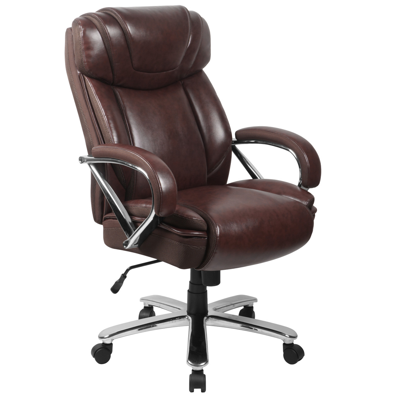 Picture of: The Big Tall 500 Lb Rated Brown Leather Executive Swivel Ergonomic Office Chair With Extra Wide Seat Available At Acf Wholesale Serving Columbus Ms