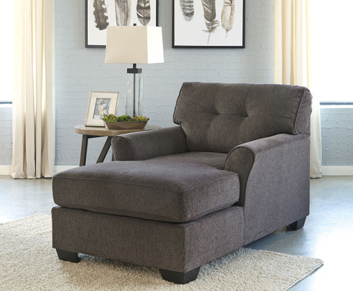The Cardello Pewter Chair With Ottoman Available At Acf