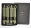 """Dark Olive Unscented 7"""" Grecian Collenettes 4-Pack by Root 1"""