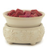 Sand Stone Ceramic Fragrance Warmer with Dish