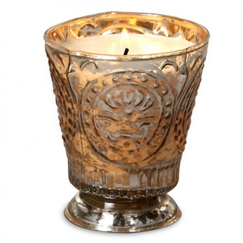 Champagne Mercury Bourbon Vanilla 8 oz. Fleur de Lys Candle by Himalayan Candles