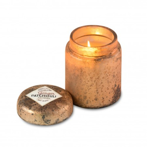 Blush Ginger Patchouli 9 oz. Mountain Fire Glass Jar Candle by Himalayan Candles