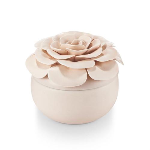 Coconut Milk Mango Ceramic Flower Illume Candle