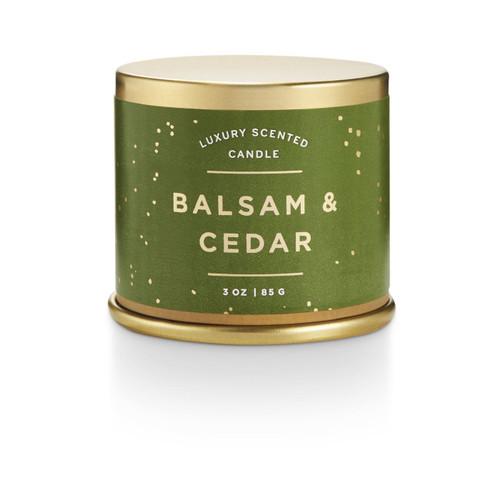 Balsam & Cedar Demi Tin Illume Candle
