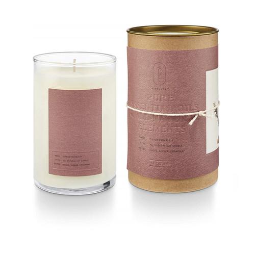 Citrus Cedarleaf Elemental Natural Glass Illume Candle