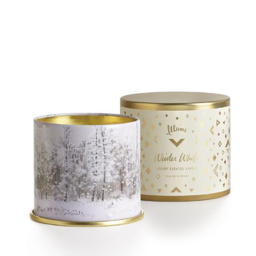 Winter White Large Tin Illume Candle