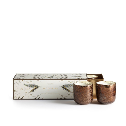 Woodfire Mini Luxe 3-Pack Illume Candle