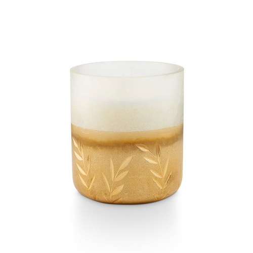 Winter White Small Frosted Glass Illume Candle