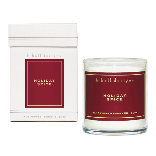 Holiday Spice 8 oz. Jar Candle by K. Hall Designs
