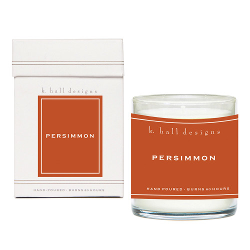 Persimmon 8 oz. Jar Candle by K. Hall Designs