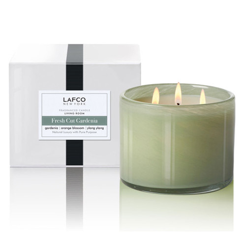 Fresh Cut Gardenia 30 oz. 3-Wick Candle by Lafco New York